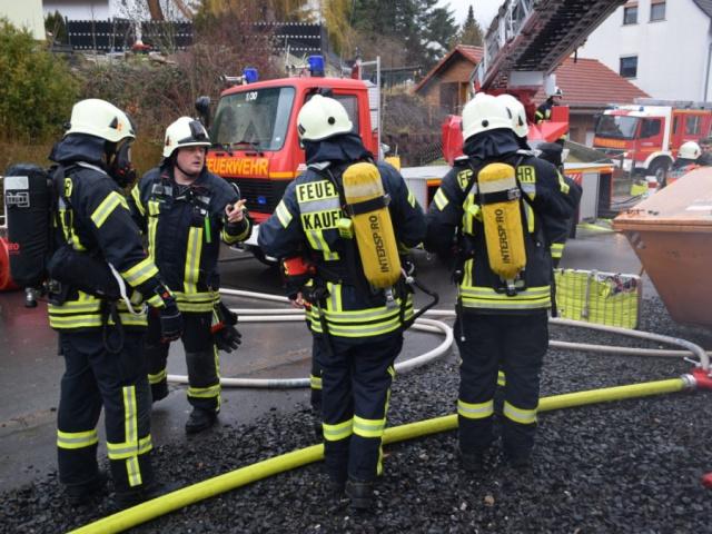 Zugübung Kaufungen - Brand in Gebäude 10.02.2019