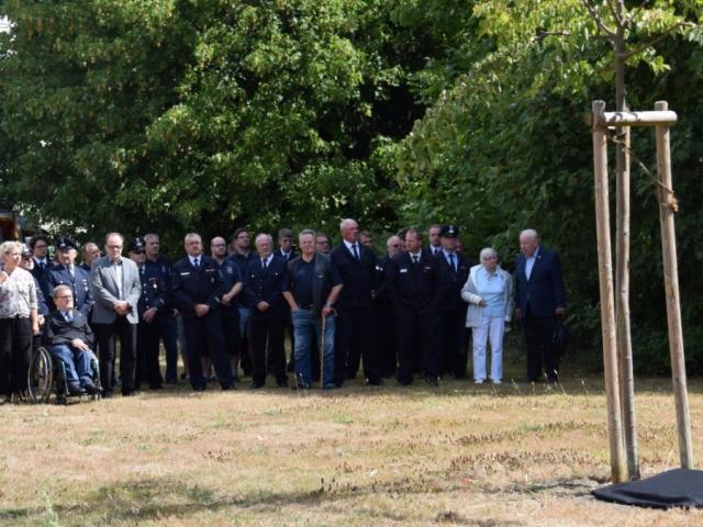 Enthüllung der Gedenktafel an der Linde - 11.08.2018